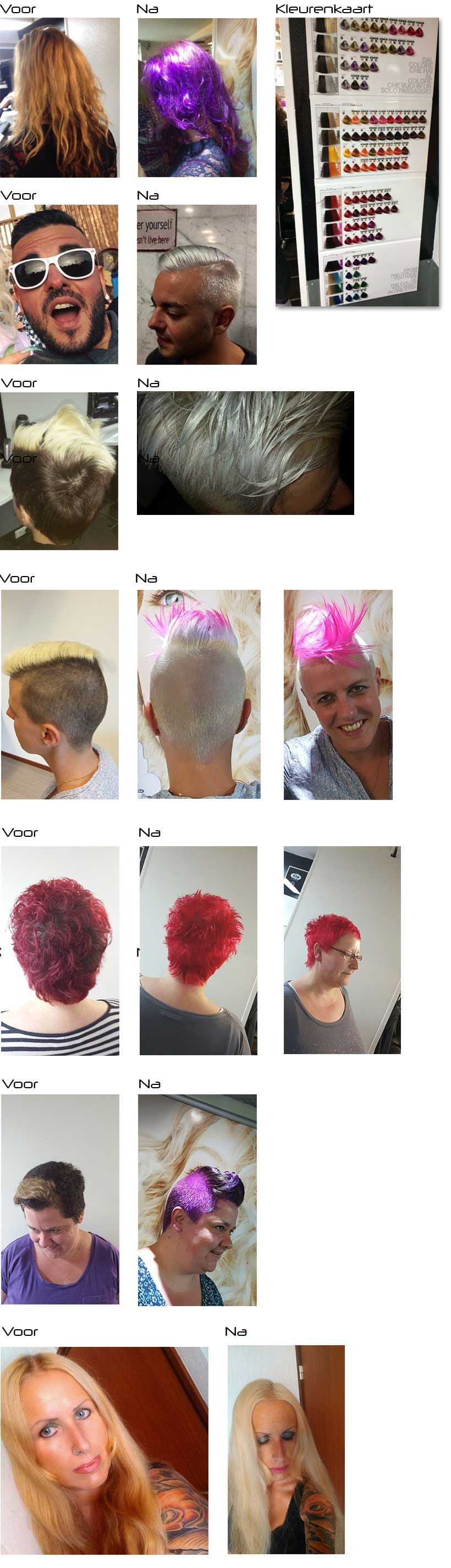 bleach and color voor na